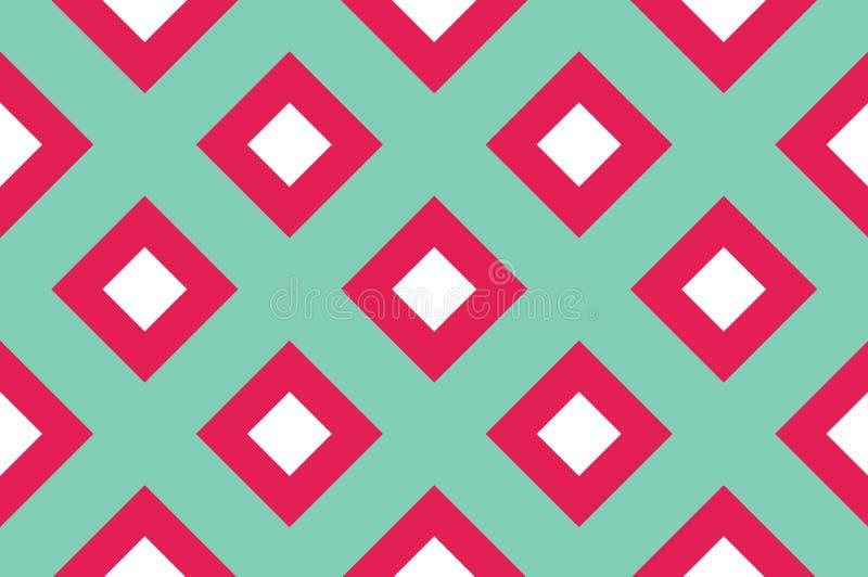 Modèle sans couture géométrique avec les lignes de intersection, grilles, cellules Fond entrecroisé pour imprimer sur le tissu, p illustration de vecteur