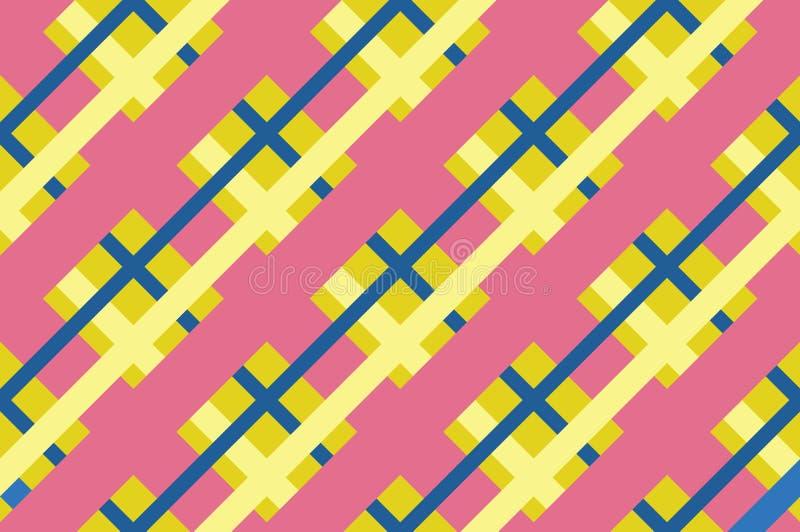 Modèle sans couture géométrique avec les lignes de intersection, grilles, cellules Illustration de vecteur illustration libre de droits