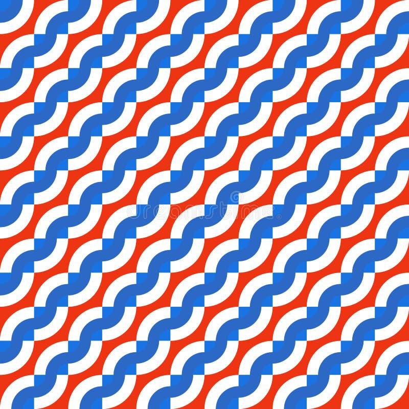 Modèle sans couture géométrique avec les vagues diagonales illustration libre de droits