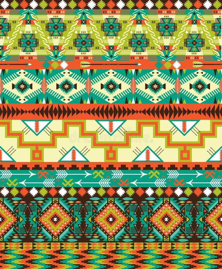 Modèle sans couture géométrique aztèque illustration de vecteur