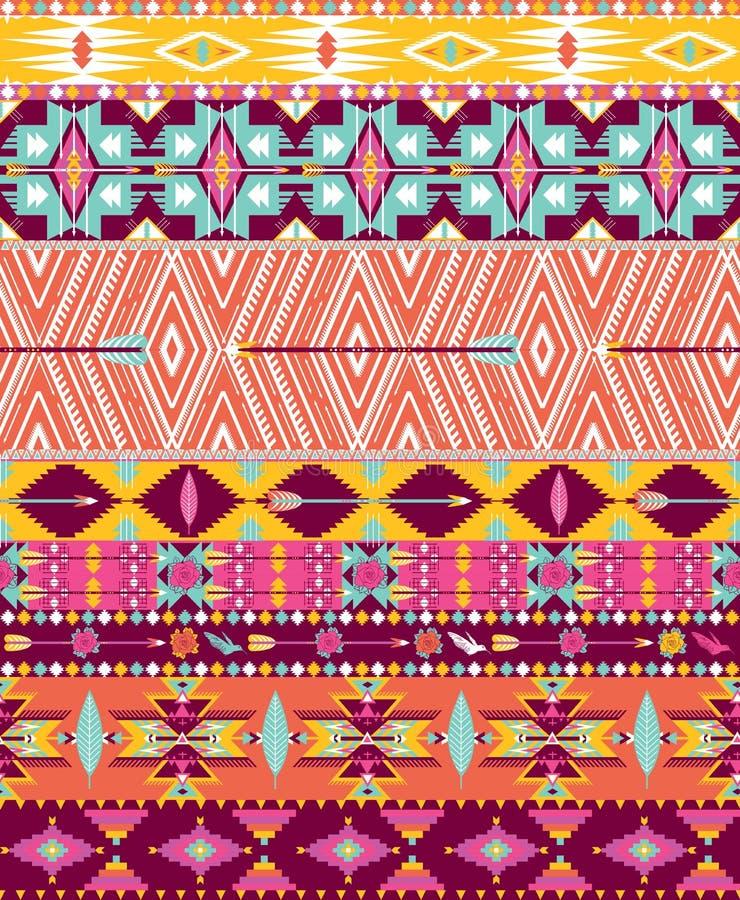 Modèle sans couture géométrique aztèque illustration libre de droits