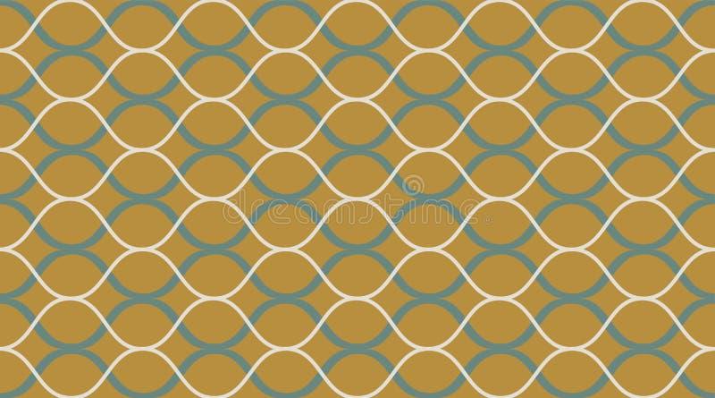 Modèle sans couture géométrique Bel ornement sensible Copie géométrique de tissu de mode Configuration sans joint de vecteur illustration libre de droits