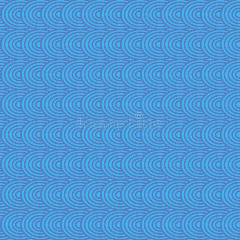 Modèle sans couture géométrique bleu abstrait pour la dispersion Vecteur illustration de vecteur