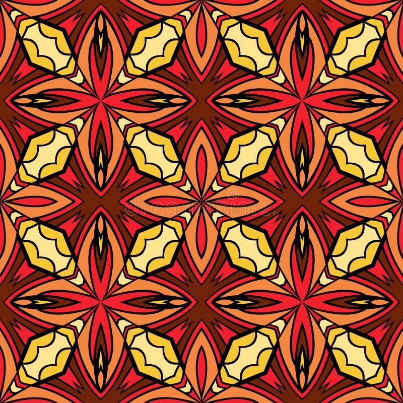 Modèle sans couture géométrique chaud lumineux illustration de vecteur