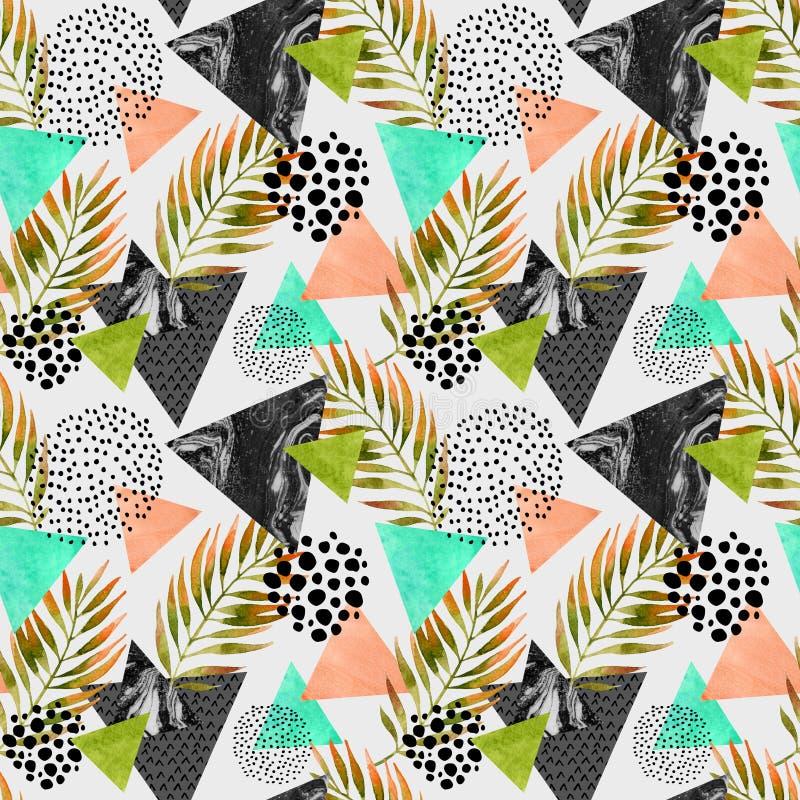 Modèle sans couture géométrique d'été abstrait illustration stock