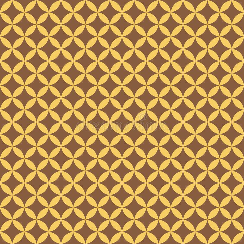 Modèle sans couture géométrique d'or abstrait pour la dispersion Vecteur illustration libre de droits
