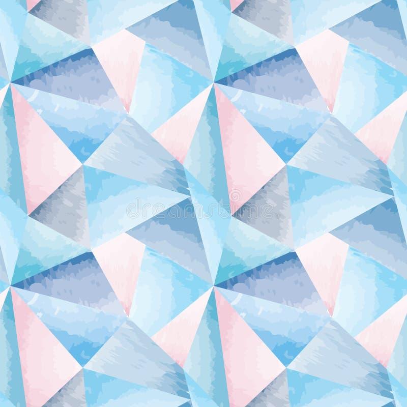 Modèle sans couture géométrique d'aquarelle abstraite illustration stock