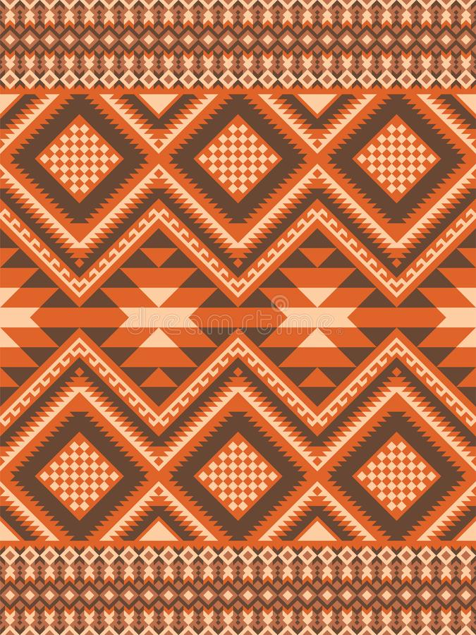 Modèle sans couture géométrique dans le style ethnique illustration de vecteur