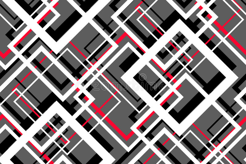 Modèle sans couture géométrique de contraste à la mode illustration stock