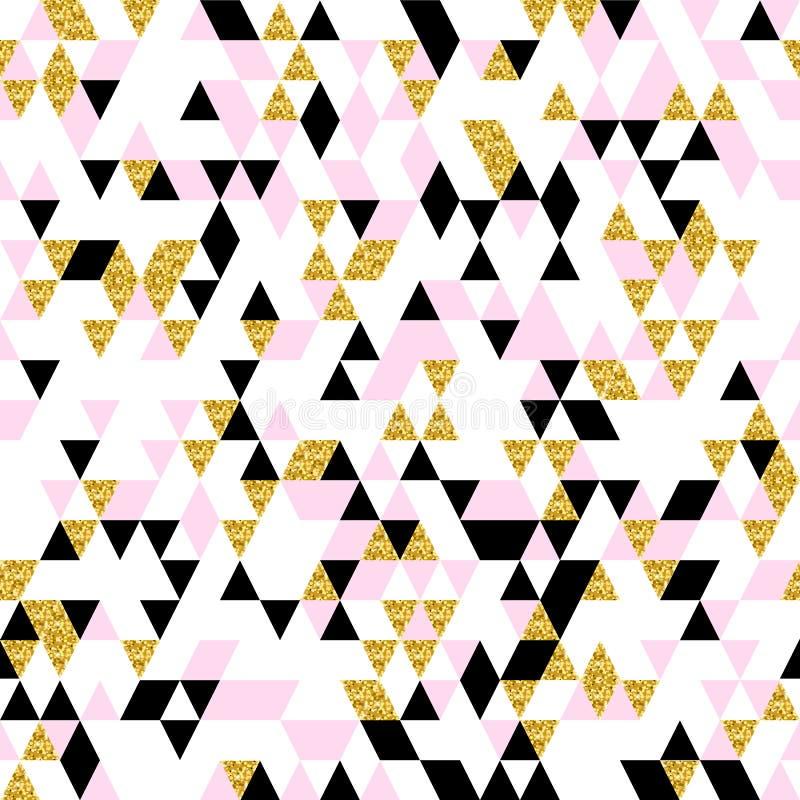 Modèle sans couture géométrique de Moderm illustration stock