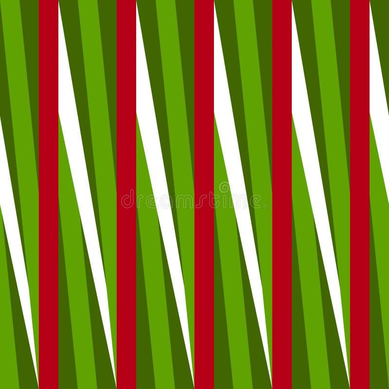 Modèle sans couture géométrique de Noël Fond des rayures colorées illustration stock