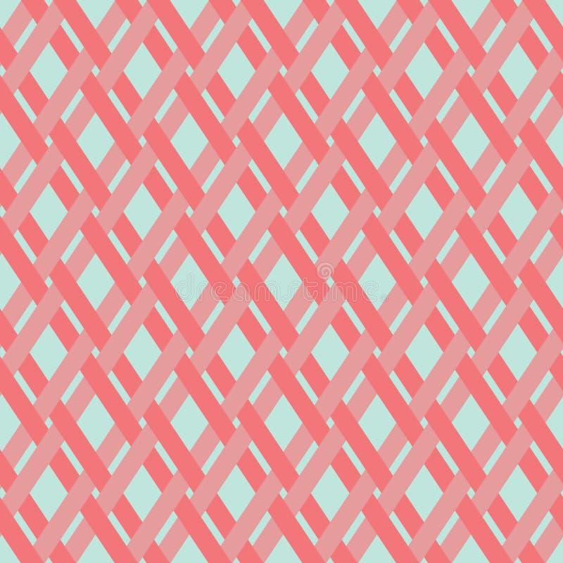 Modèle sans couture géométrique de pourpre rougeâtre de fond de vecteur courant photo libre de droits