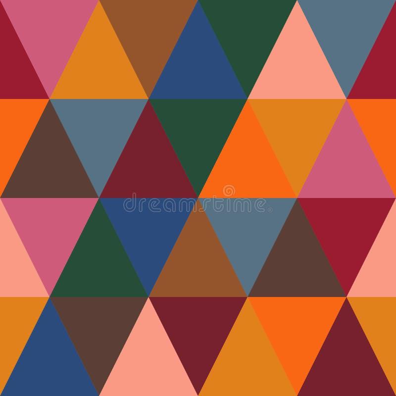 Modèle sans couture géométrique de résumé, modèle d'Autumn Surface Pattern Background Repeat pour la conception de textile, prin  illustration de vecteur