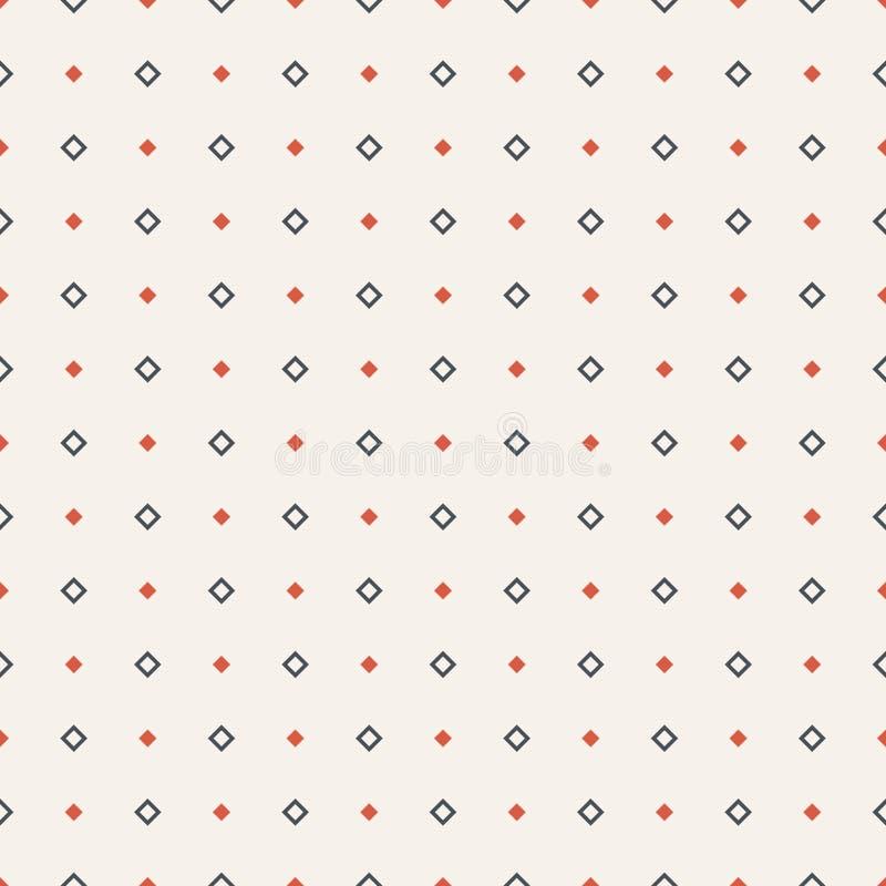 Modèle sans couture géométrique de résumé de répéter de petits losanges Fond de couleur de vecteur illustration stock