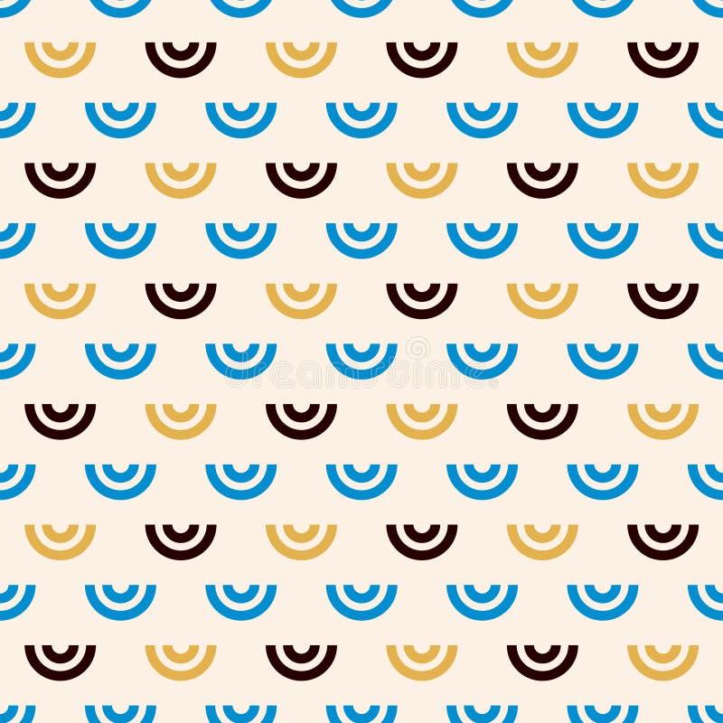 Modèle sans couture géométrique de Shell illustration libre de droits