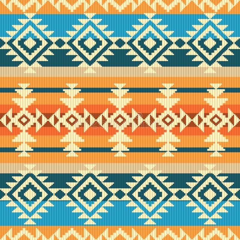 Modèle sans couture géométrique de style de Navajo illustration de vecteur