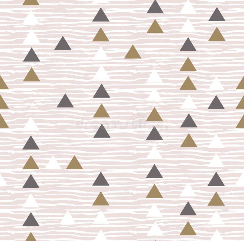 Modèle sans couture géométrique de vecteur de hippie gris illustration libre de droits