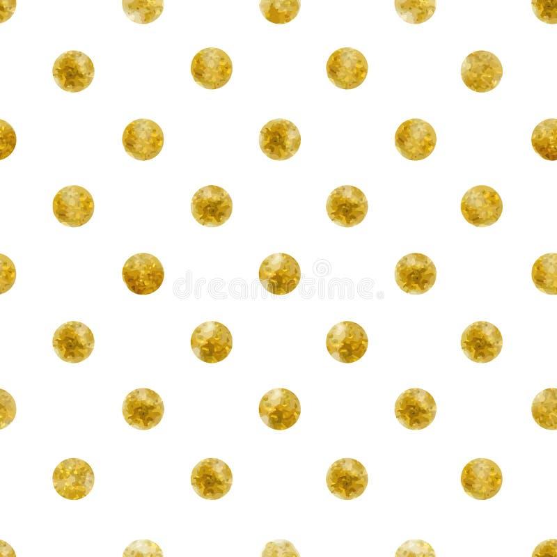Modèle sans couture géométrique des paillettes d'or illustration de vecteur