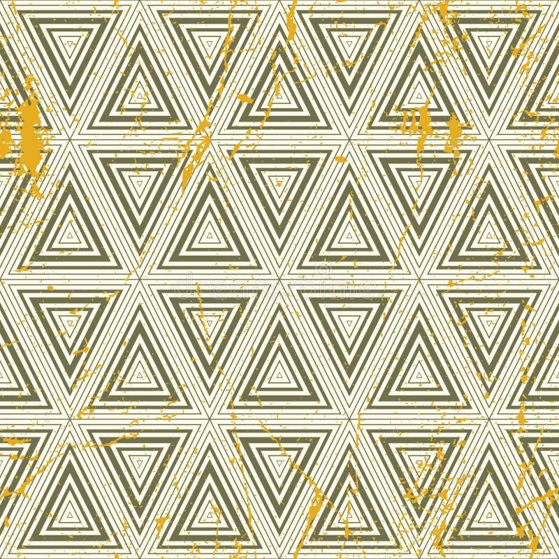 Modèle sans couture géométrique grunge, backgro de répétition de vecteur de vintage illustration de vecteur