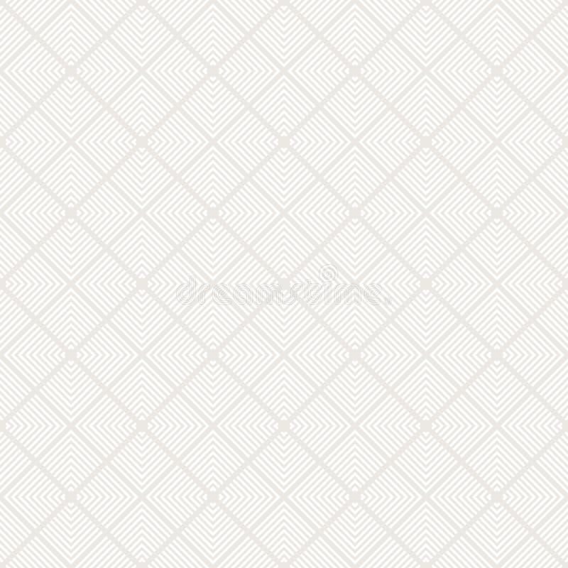 Modèle sans couture géométrique minimaliste subtil avec des lignes, places, tuiles de répétition illustration stock