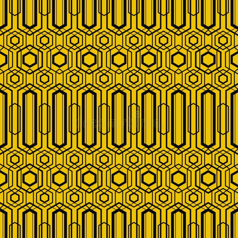 Modèle sans couture géométrique moderne de vecteur Ensemble de milieux sans couture d'or illustration de vecteur