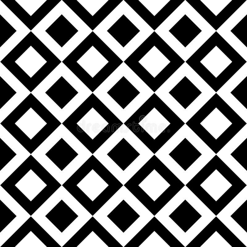 Modèle sans couture GÉOMÉTRIQUE noir à l'arrière-plan blanc illustration de vecteur