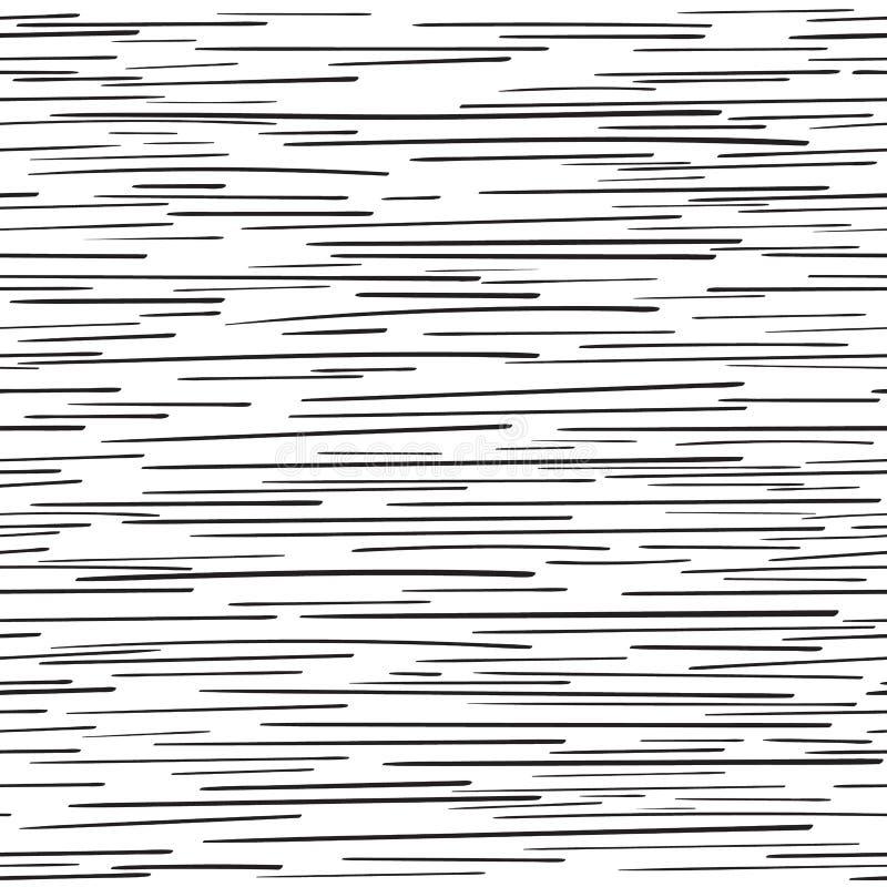 Modèle sans couture géométrique noir et blanc monochrome illustration de vecteur