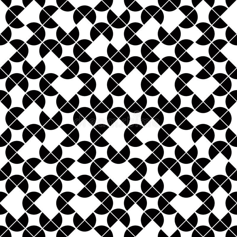 Modèle sans couture géométrique noir et blanc, sphe de contraste de vecteur illustration libre de droits