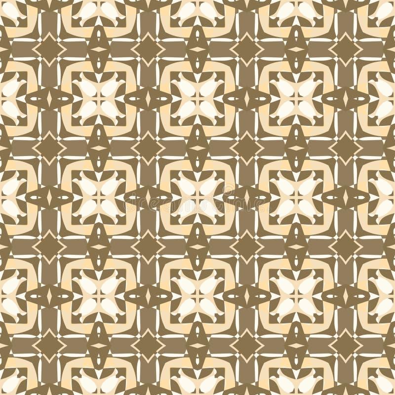 Modèle sans couture géométrique ornemental Texture de fond de vecteur Rétro tuile de style Couleurs olives illustration de vecteur