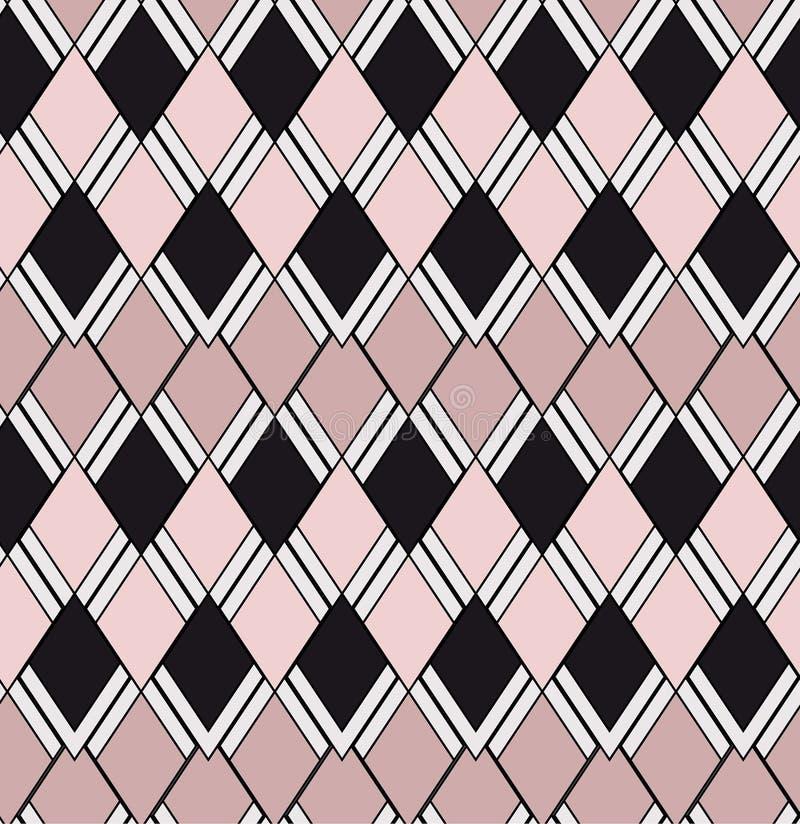 Modèle sans couture géométrique rose-clair de deux tons illustration libre de droits