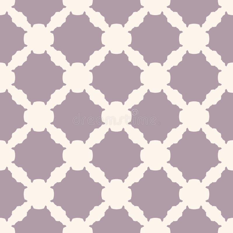 Modèle sans couture géométrique simple avec des formes découpées Pourpre beige et pâle illustration stock