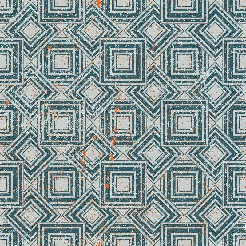 Modèle sans couture géométrique texturisé âgé, répétition de vecteur de vintage illustration de vecteur