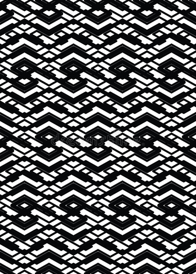 Modèle sans couture géométrique texturisé de résumé visuel monochrome illustration de vecteur