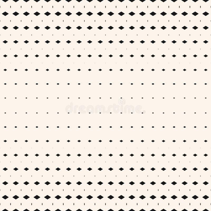 Modèle sans couture géométrique tramé de vecteur avec de petites formes de diamant, losanges illustration stock