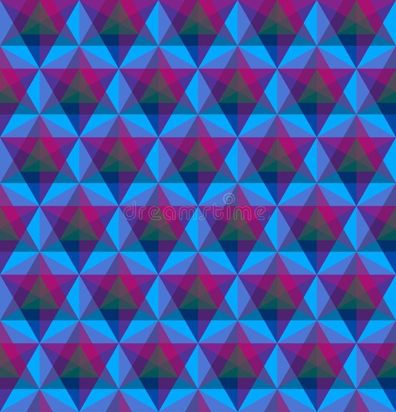 Modèle sans couture géométrique triangulaire illustration stock