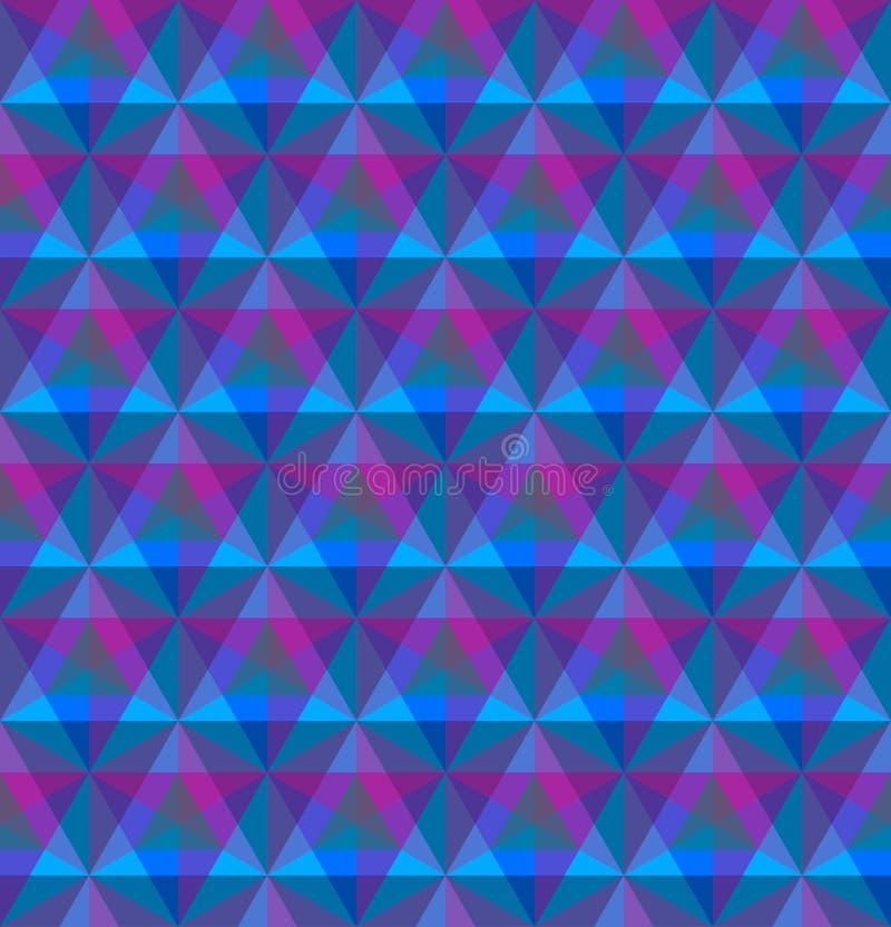 Modèle sans couture géométrique triangulaire illustration de vecteur