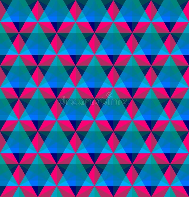 Modèle sans couture géométrique triangulaire illustration libre de droits