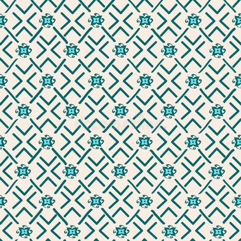 Modèle sans couture géométrique tribal ethnique illustration de vecteur