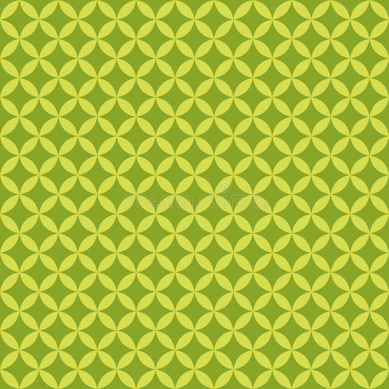Modèle sans couture géométrique vert abstrait pour la dispersion Vecteur illustration de vecteur
