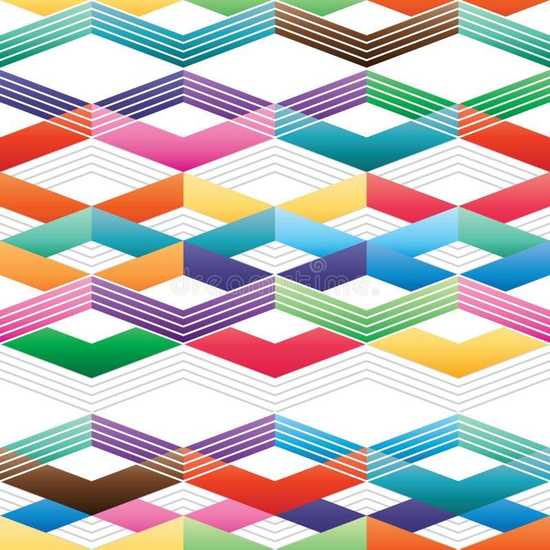 Modèle sans couture gratuit coloré de Chevron illustration stock