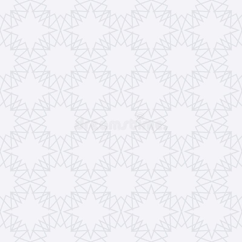 Modèle sans couture islamique de vecteur courant illustration stock