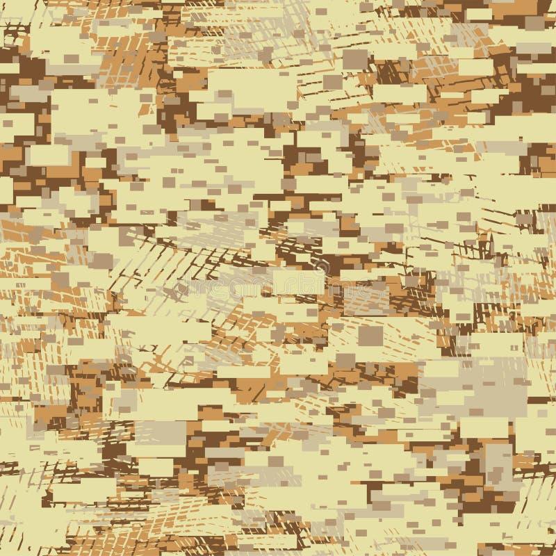 Modèle sans couture kaki de bloc disruptif de désert de camouflage illustration libre de droits