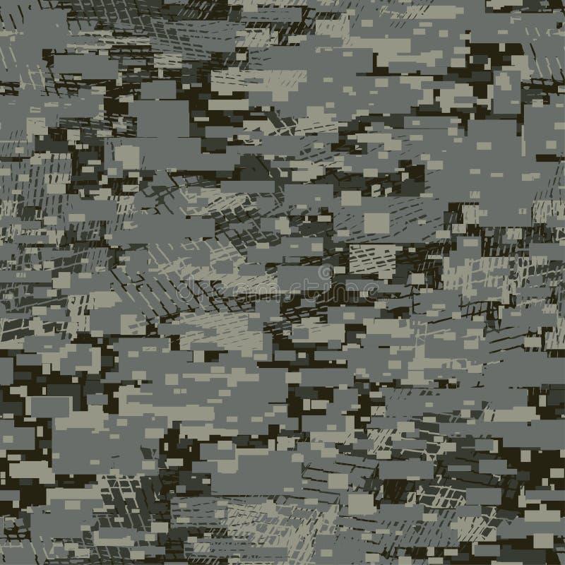 Modèle sans couture kaki de bloc disruptif urbain de camouflage illustration libre de droits