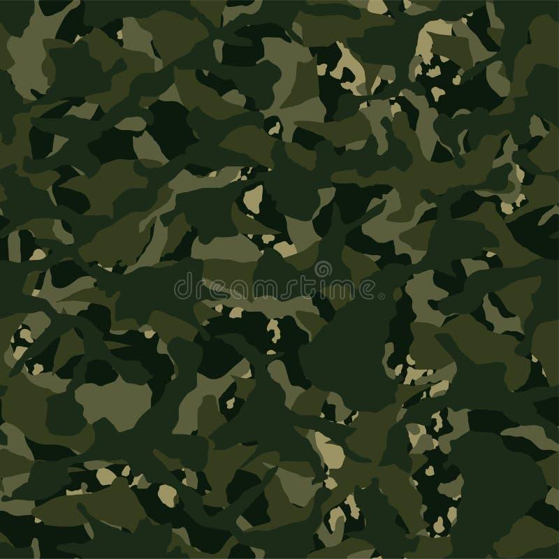 Modèle sans couture kaki disruptif extérieur de camouflage illustration stock