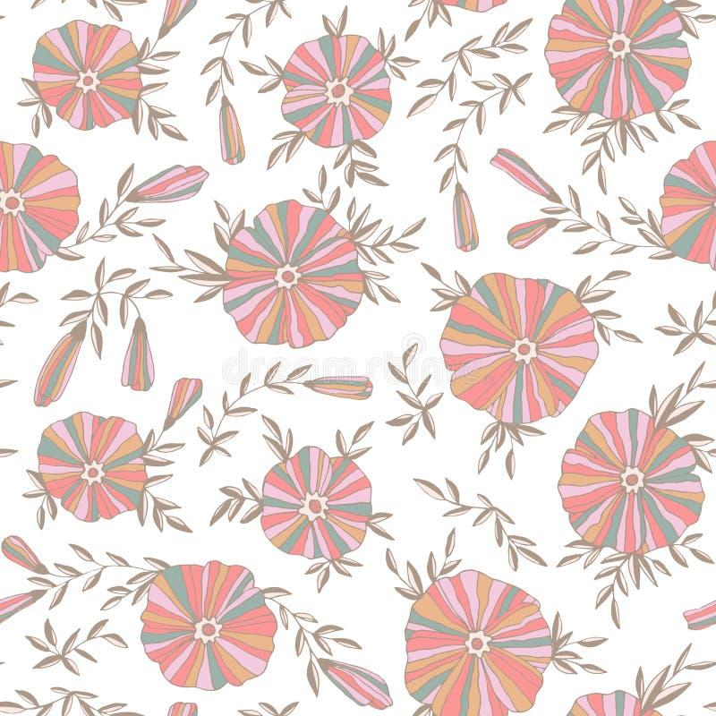 Modèle sans couture léger avec des fleurs illustration stock