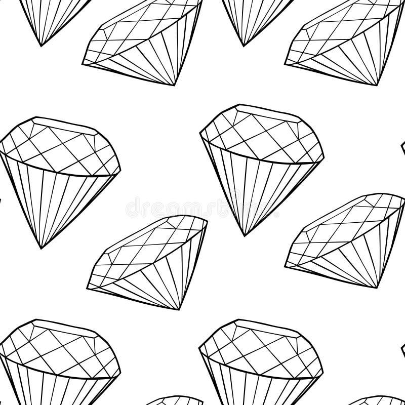 Modèle sans couture le bijou de diamant de coloration Vecteur Illustratio illustration de vecteur