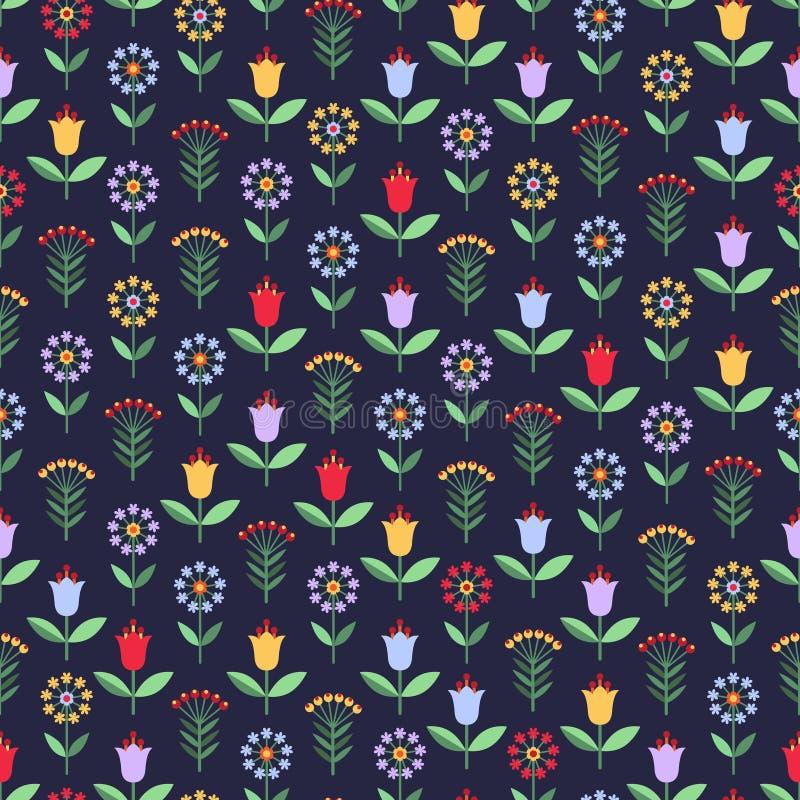 Download Modèle Sans Couture Lumineux Avec Des Fleurs Et Des Baies Illustration de Vecteur - Illustration du configuration, floraison: 76090370