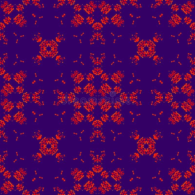 Modèle sans couture marocain Couleurs pourpres et rouges illustration de vecteur