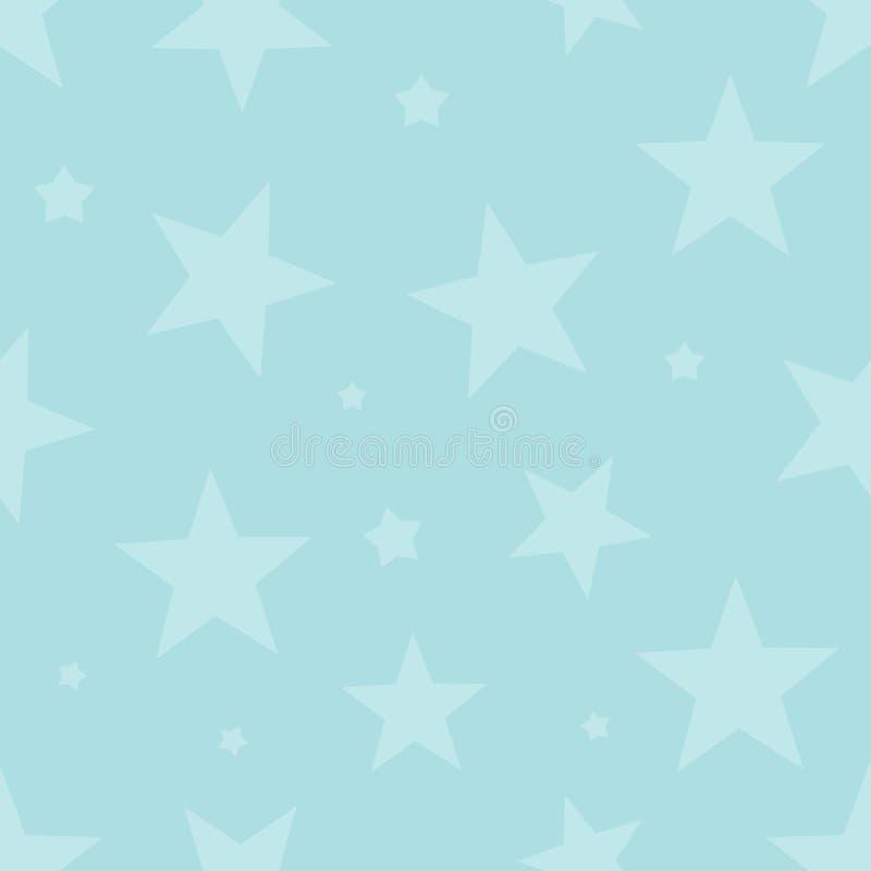 Modèle sans couture mignon avec des étoiles Fond de capot extérieur illustration libre de droits