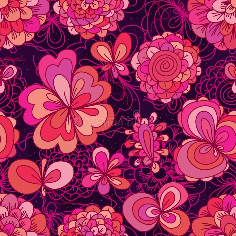 mod le sans couture mignon de rose de couleur de dessin de fleur illustration de vecteur. Black Bedroom Furniture Sets. Home Design Ideas